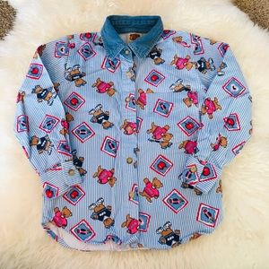 Vintage Route 66 Button Down Shirt Girl Si…